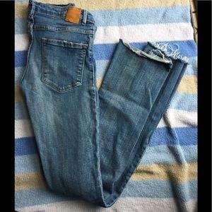 Zara Trafaluc Skinny Flare Jeans Sz 4